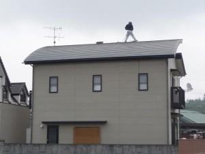 太陽光発電システム設置作業開始