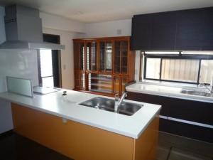 I型キッチン フラット対面キッチン