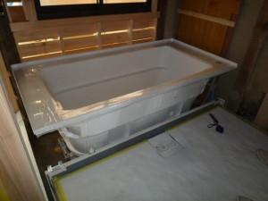 洗い場の床・浴槽の設置
