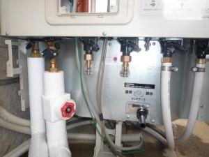 追い焚き配管  給湯  給水配管接続
