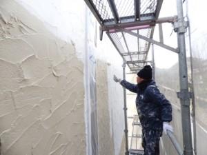 外壁面塗装中